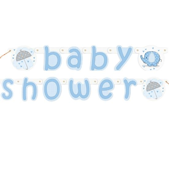 blue baby shower banner boy banners party decorations