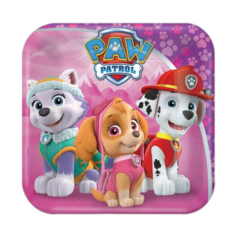 Paw Patrol Birthday Party Tableware Boys Girls Decorations Puppy