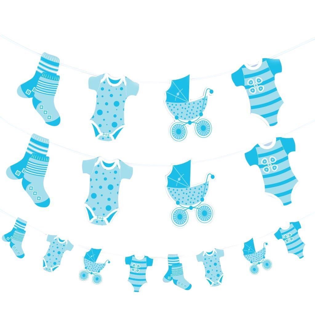 Blue baby shower banner boy banners party decorations foil for Baby boy decoration