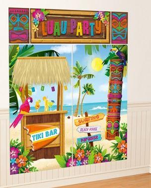 Ete-Hawaien-Fete-de-Jardin-BBQ-Tiki-Decorations-Plage-Piscine-vaisselle miniature 19