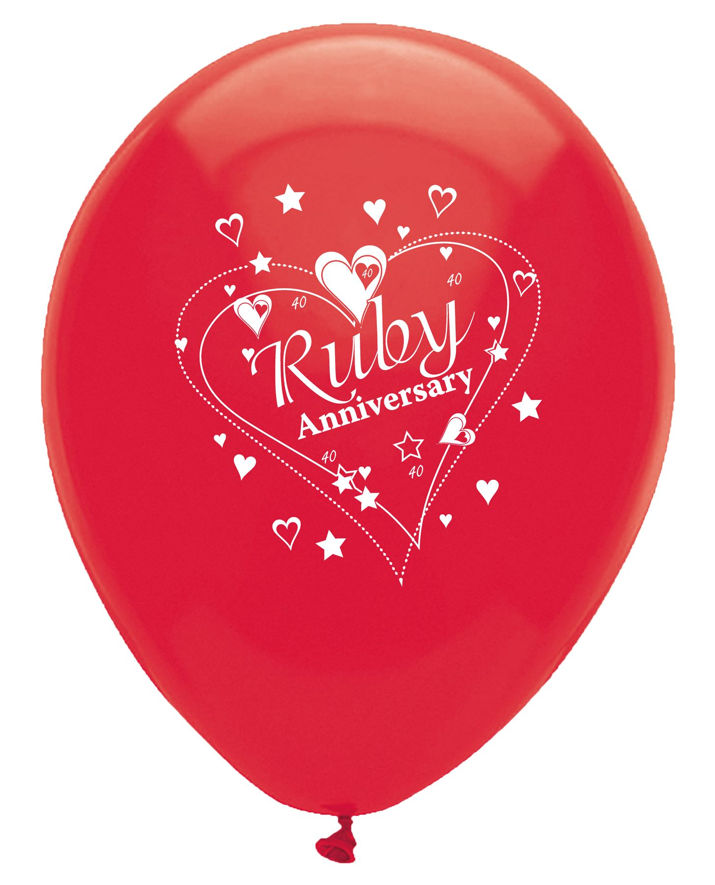 ruby 40th wedding anniversary party decorations balloons. Black Bedroom Furniture Sets. Home Design Ideas