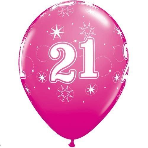 Pink age 21 female happy 21st birthday banner confetti for 21st b day decoration ideas
