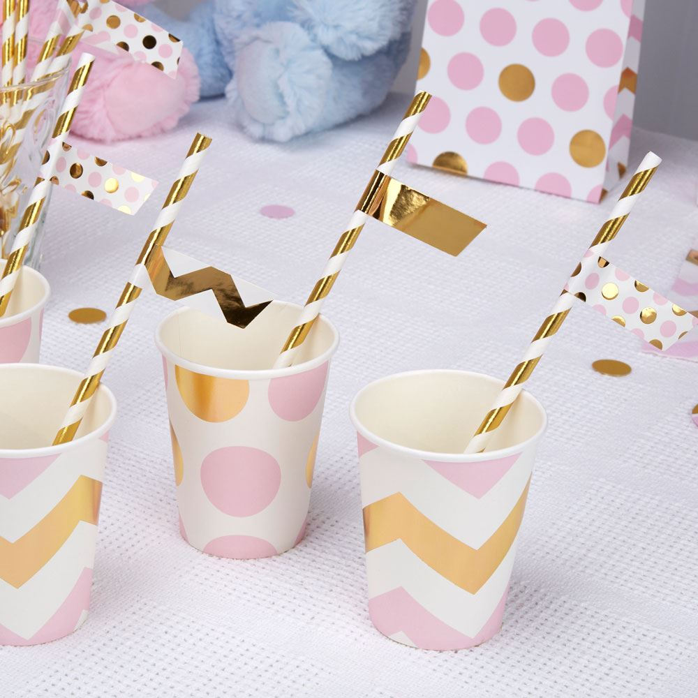 Pattern-Pink-Baby-Shower-Girls-Party-Decorations-Christening-  sc 1 st  eBay & Pattern Pink Baby Shower Girls Party Decorations Christening ...