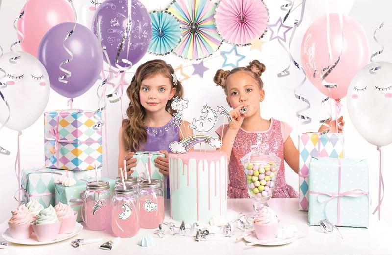 Birthday Box Of Decorations Unicorn Dinosaur Tableware Party Pack Set Girls Boys