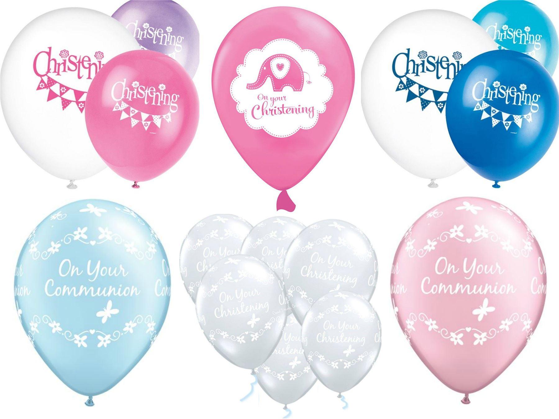 """Pink girl /""""sur votre baptême/"""" ballon décoration table affichage"""