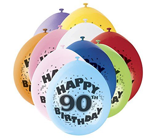 10-AirFill-9-034-Hanging-Birthday-Balloons-Ages-1-100-Party-Decorations-Milestone
