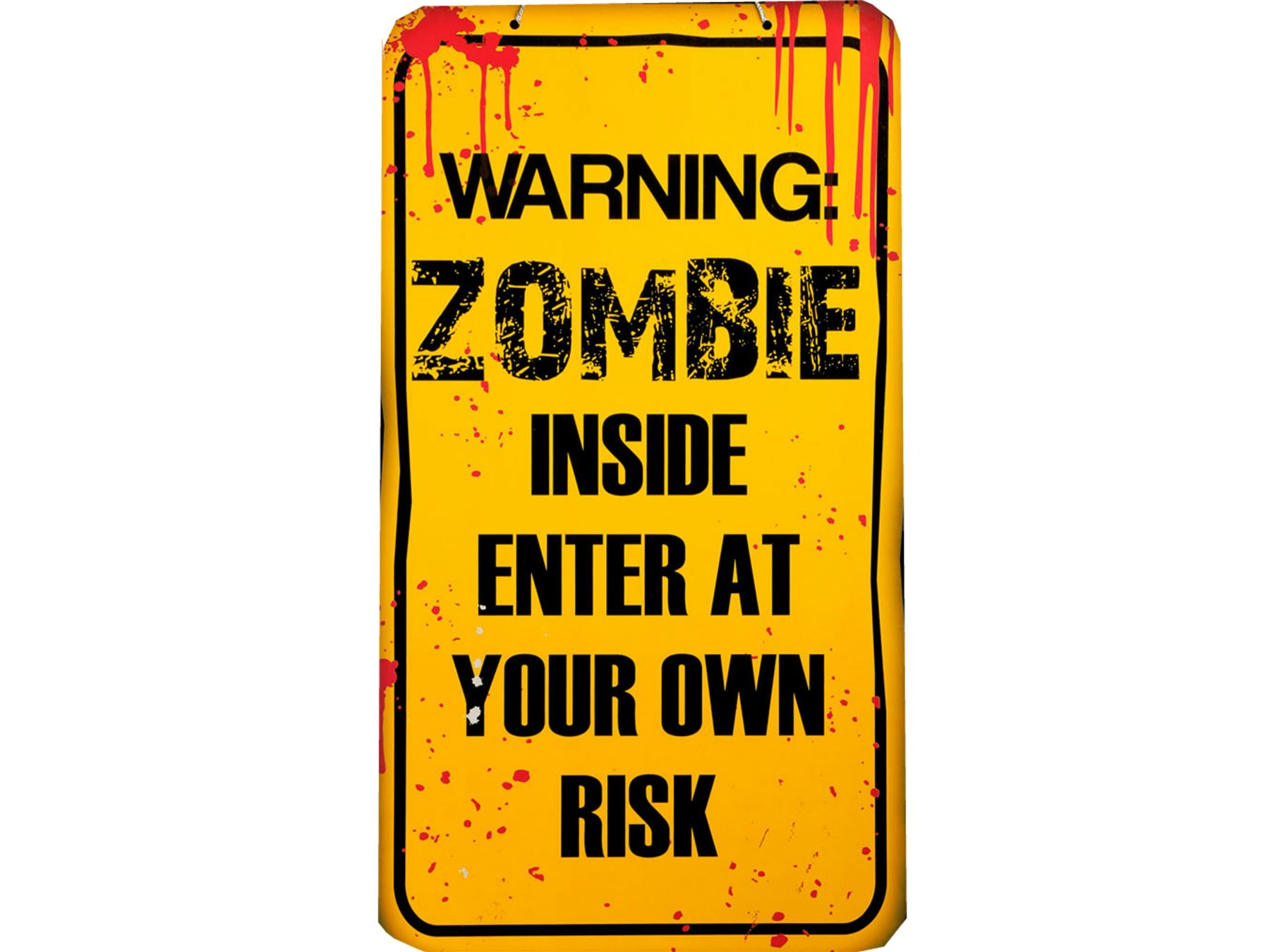 Halloween Warning Zombie Plaque Party Sign Decoration