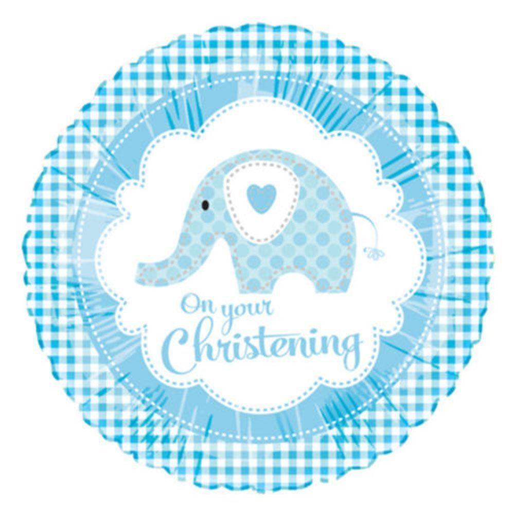 Süßigkeiten Baby Taufe Jungen Blau DEKORATIONEN Party Teller Tischdecke