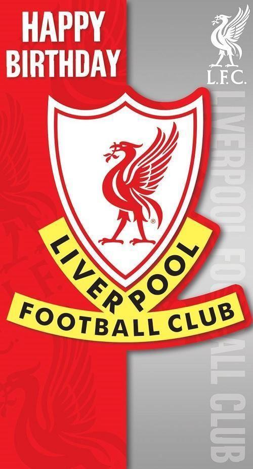 Liverpool Fc Birthday Card Son Dad Badge Party Gift Football Lfc