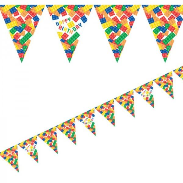 Block Party Decorations Birthday Supplies Banner Balloons