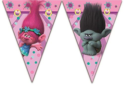 Dreamworks-Trolls-Birthday-Party-Decorations-Banner-Bunting-Partyware-Supplies
