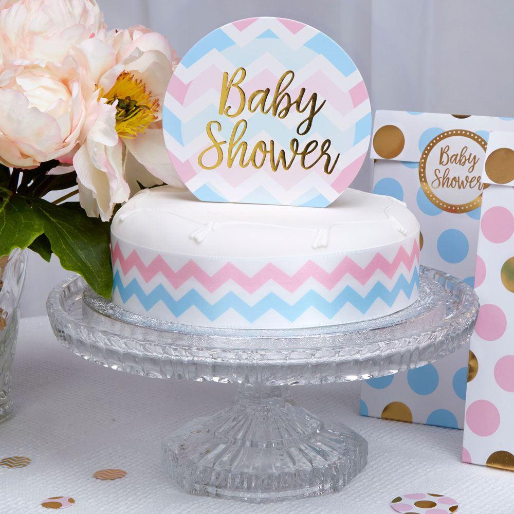 works baby shower decorations tableware pink blue mum chevron games