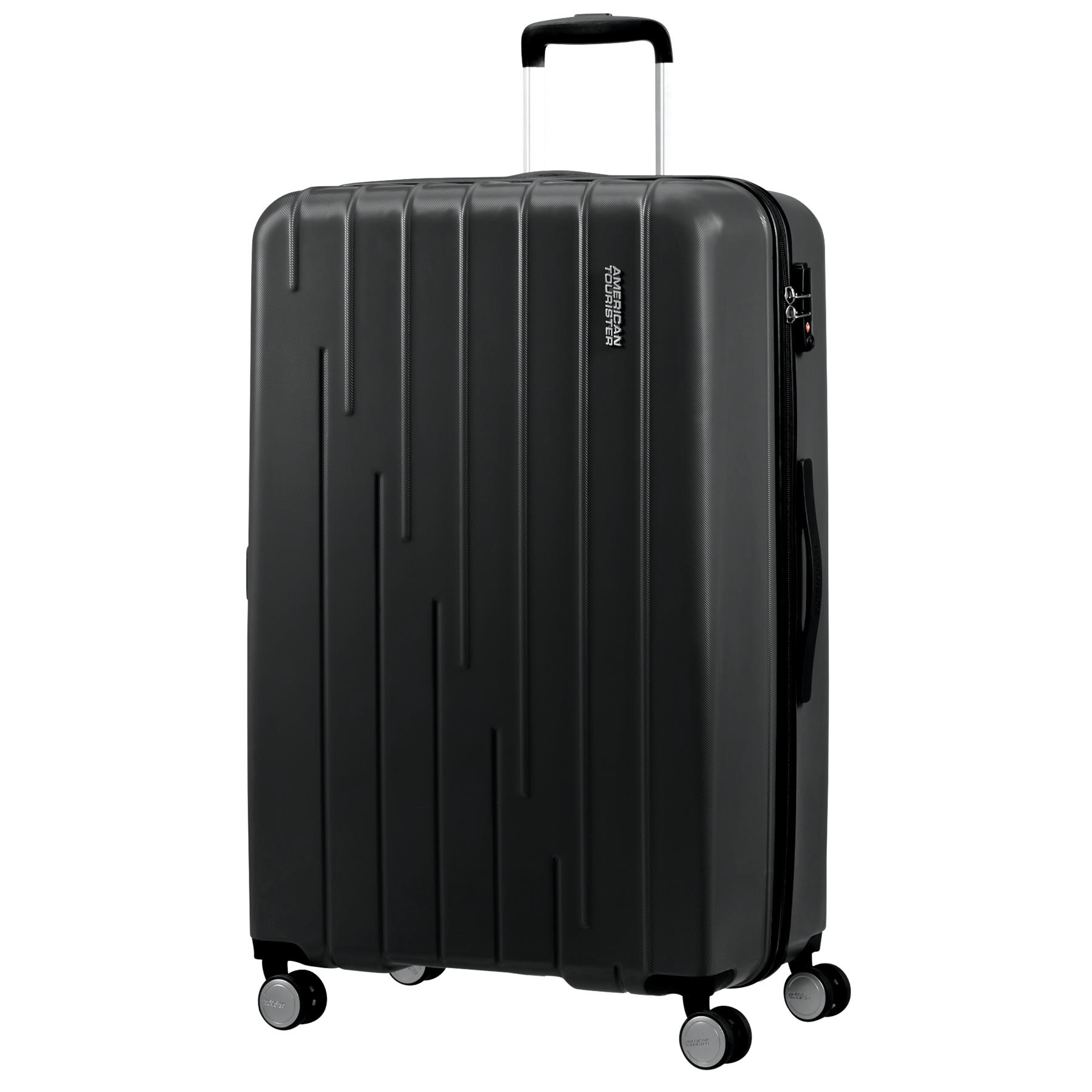 Lightweight Hardside Spinner 24 inches DUKAP Luggage Black Rodez Collection Black Suitcases with Wheels
