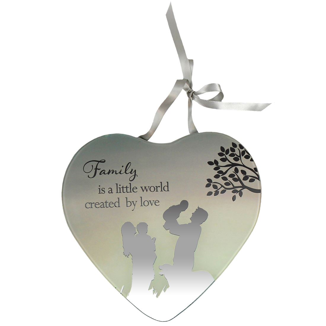 Reflections of the heart mirror plaque ideal gift for Advanced molding and decoration s a de c v
