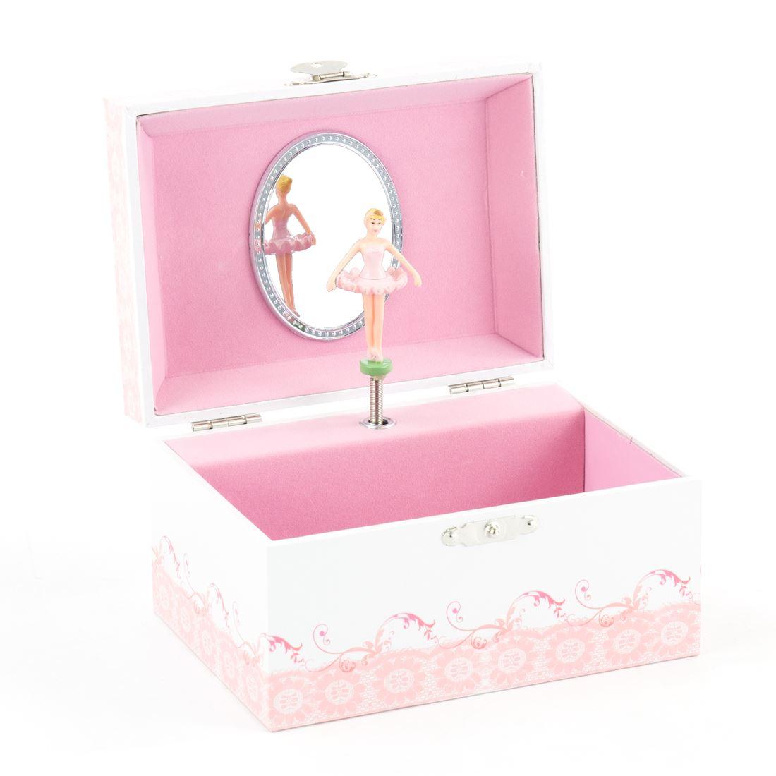 Mele Co Kids Pink Spinning Ballerina Figure Musical Girls