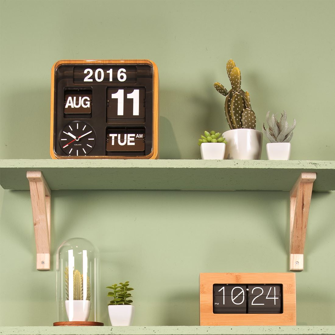 Wall clock with date and time karlsson big flip mini flip retro wall clocks with day date amipublicfo Choice Image