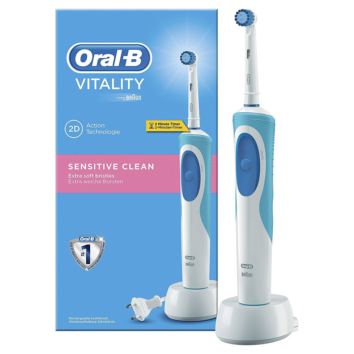 braun oral b vitality sensitive electric rechargeable toothbrush 4210201850588 ebay
