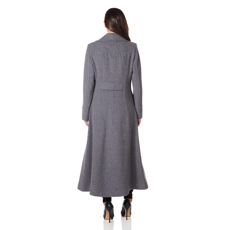 Women`s Winter Wool Cashmere Military