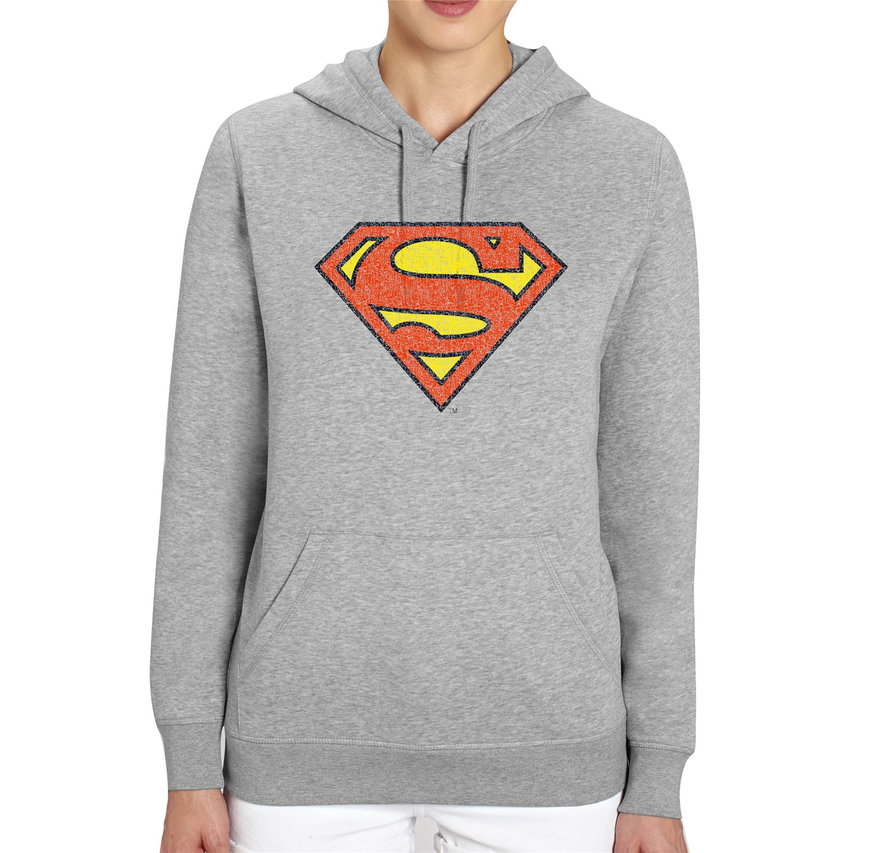 DC Comics Distressed Superman Logo Adults Unisex Grey ...