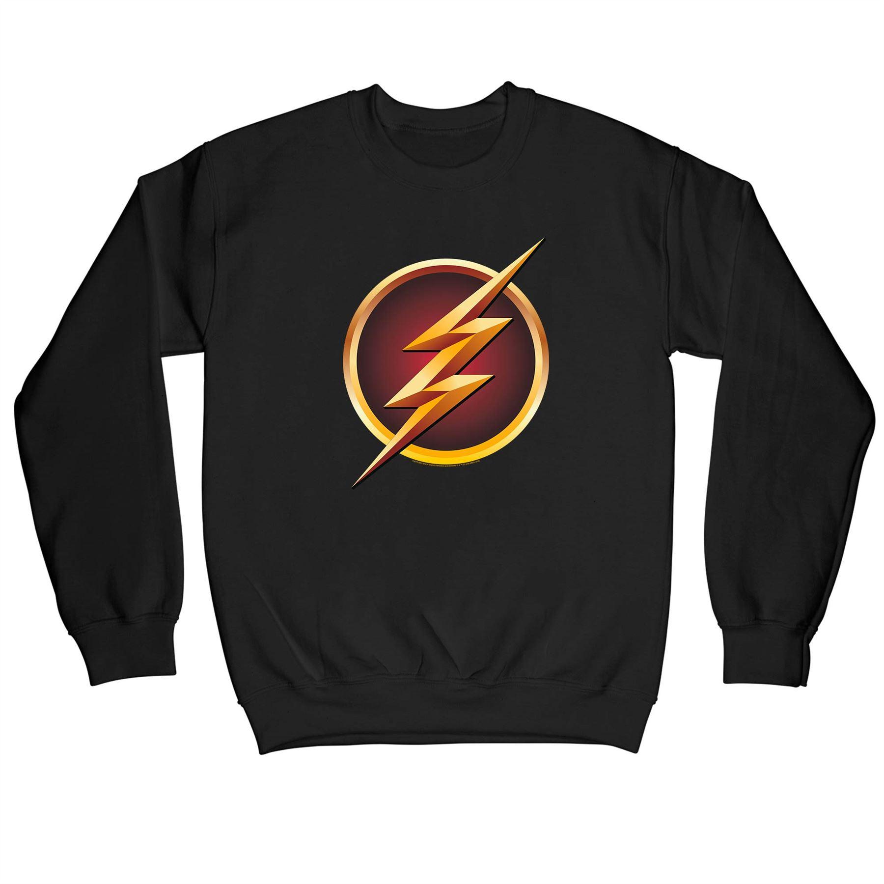 The Flash Emblem Outline Children S Unisex Black Sweatshirt Ebay
