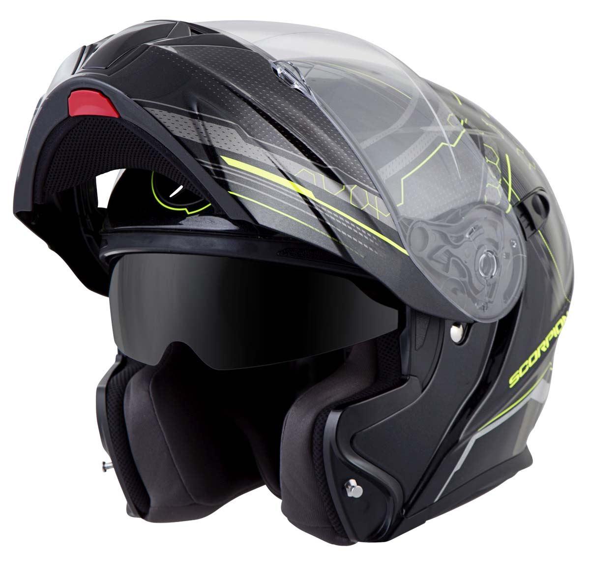 Scorpion-EXO-GT920-Helmet-Sport-Touring-Modular-Flip-Up-DOT-Approved-XS-3XL miniature 30