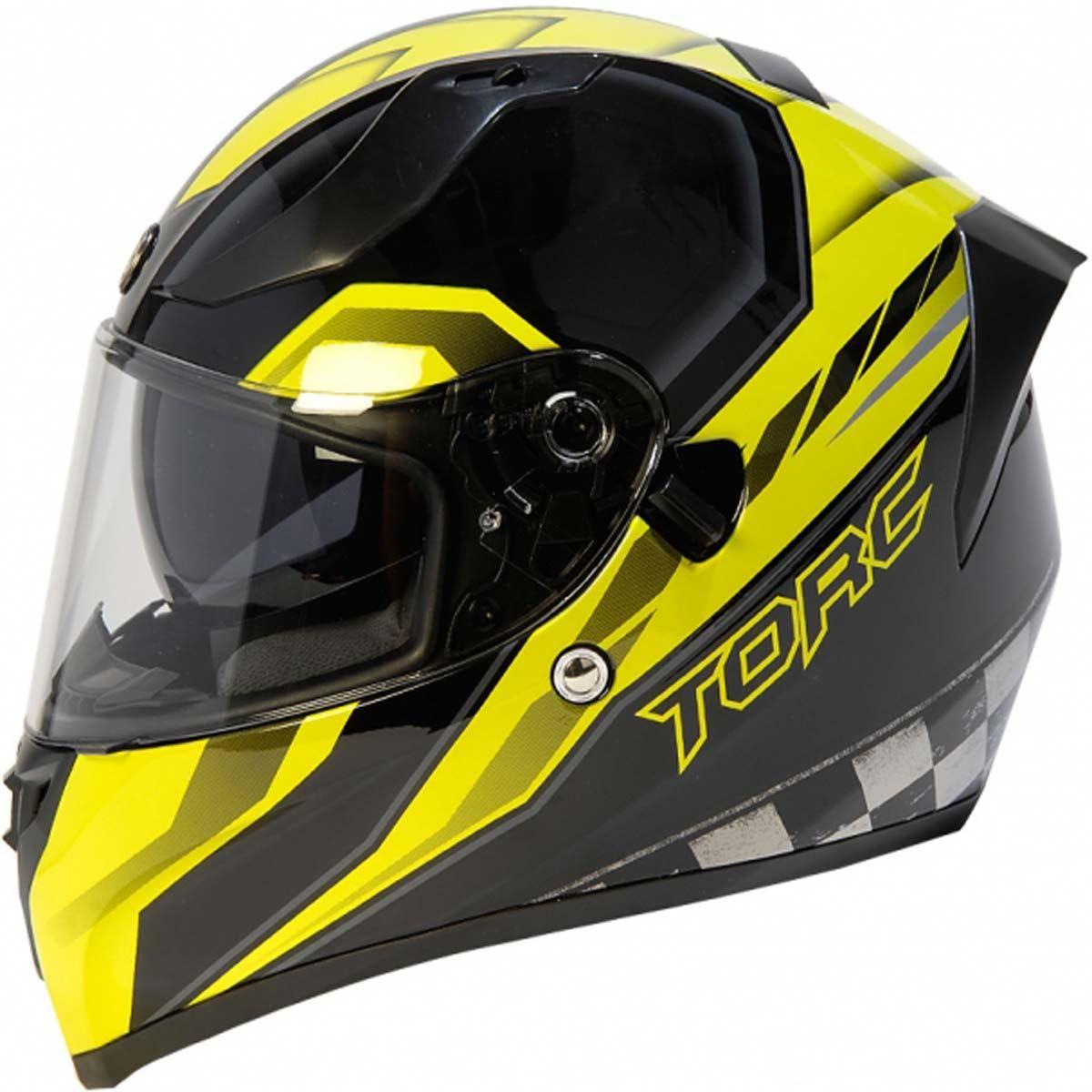miniature 19 - Torc T15 T15B Helmet Bluetooth Blinc or without - Inner Sun Shield DOT XS-2XL
