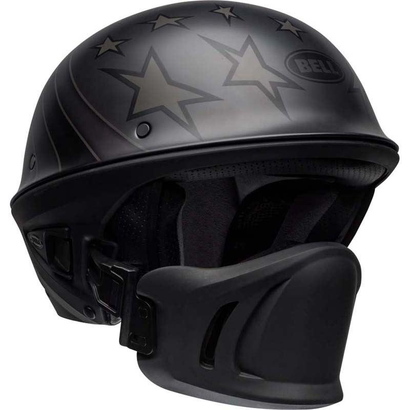 Bell-Rogue-Helmet-Muzzle-Open-Face-Speaker-Pockets-Motorcycle-DOT-2020-XS-2XL miniature 11