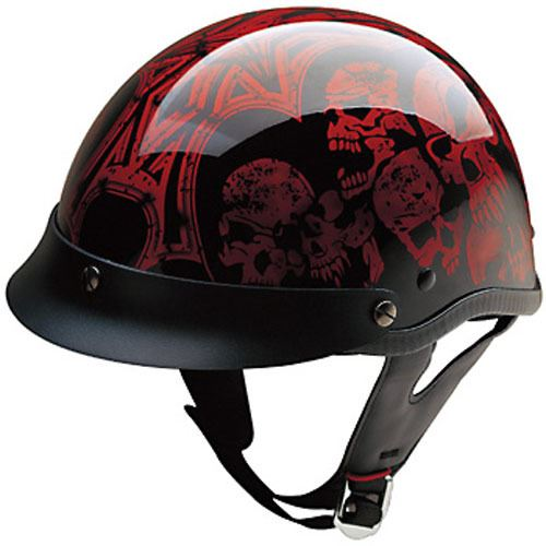 miniature 18 - HCI 100 Half Helmet Motorcycle Shorty with Visor DOT Approved XS S M L XL 2XL