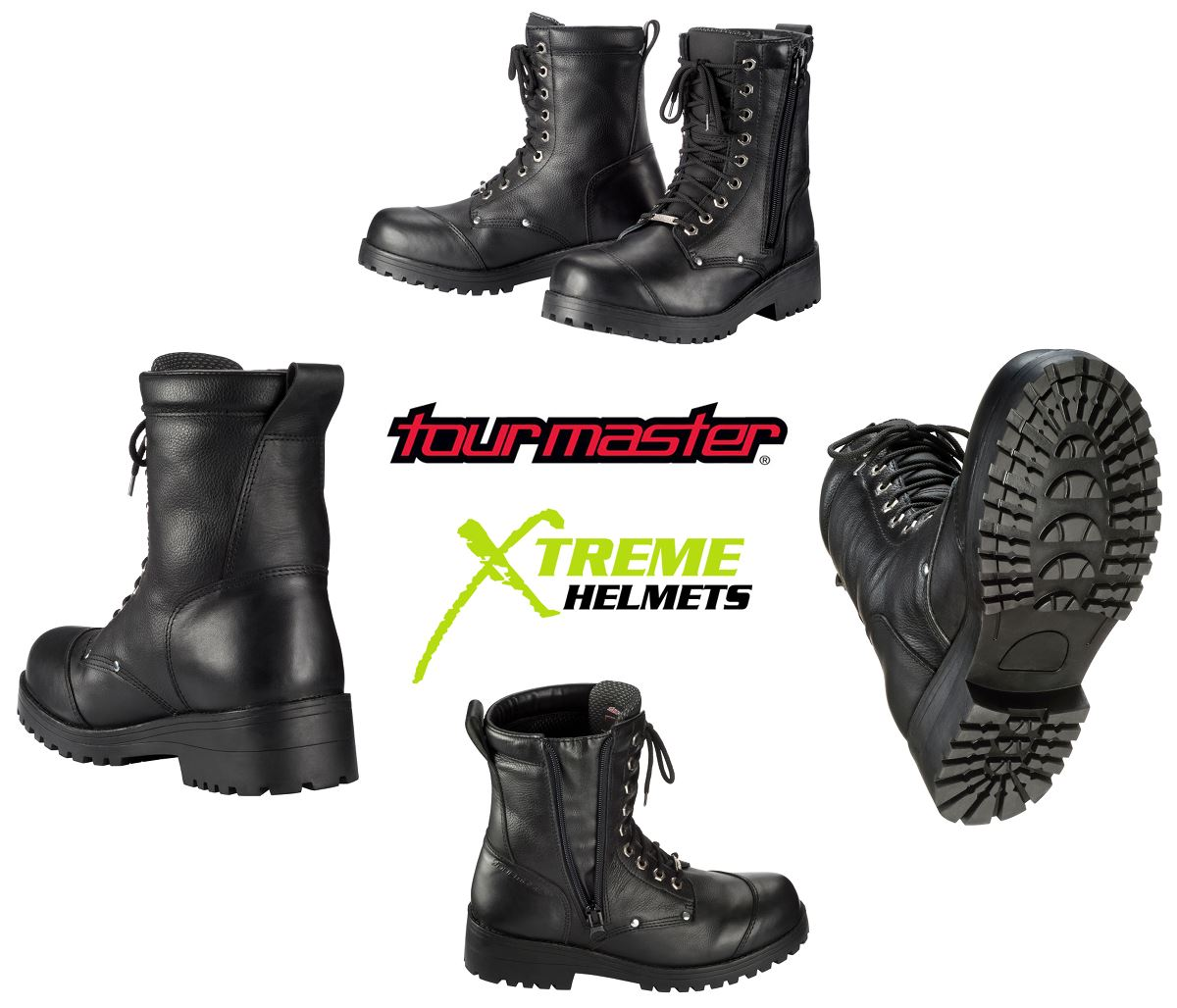 Tourmaster Coaster WP Boots Cruiser Motorcycle Leather Waterproof Breathable