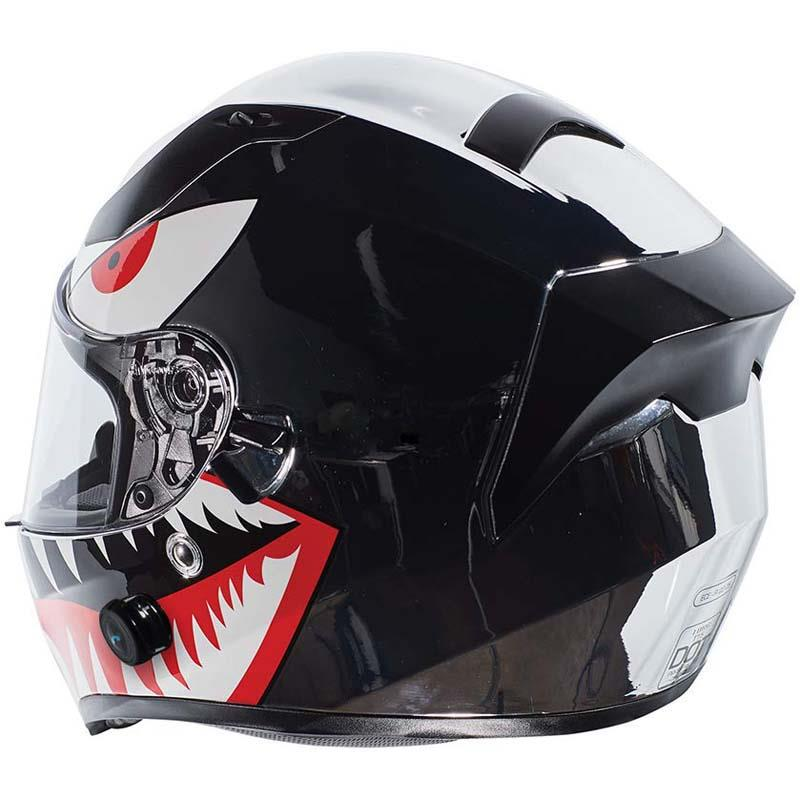 miniature 37 - Torc T15 T15B Helmet Bluetooth Blinc or without - Inner Sun Shield DOT XS-2XL