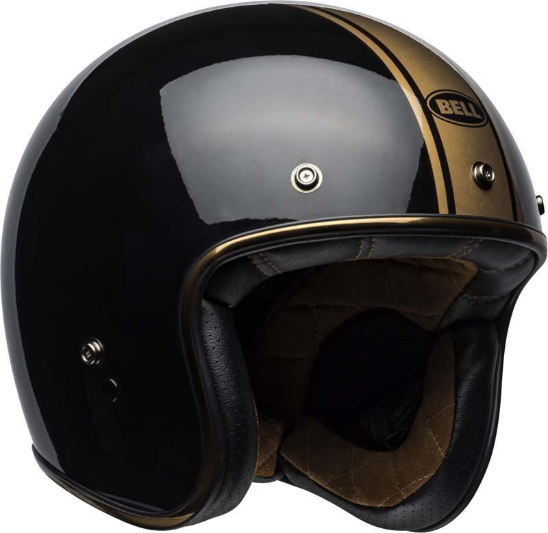 Bell-Custom-500-Helmet-3-4-Open-Face-Vintage-Retro-Motorcycle-5-Snap-XS-2XL miniature 50