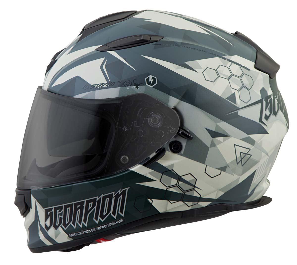 Scorpion-EXO-T510-Helmet-Full-Face-DOT-Approved-Inner-Sun-Shield miniature 58