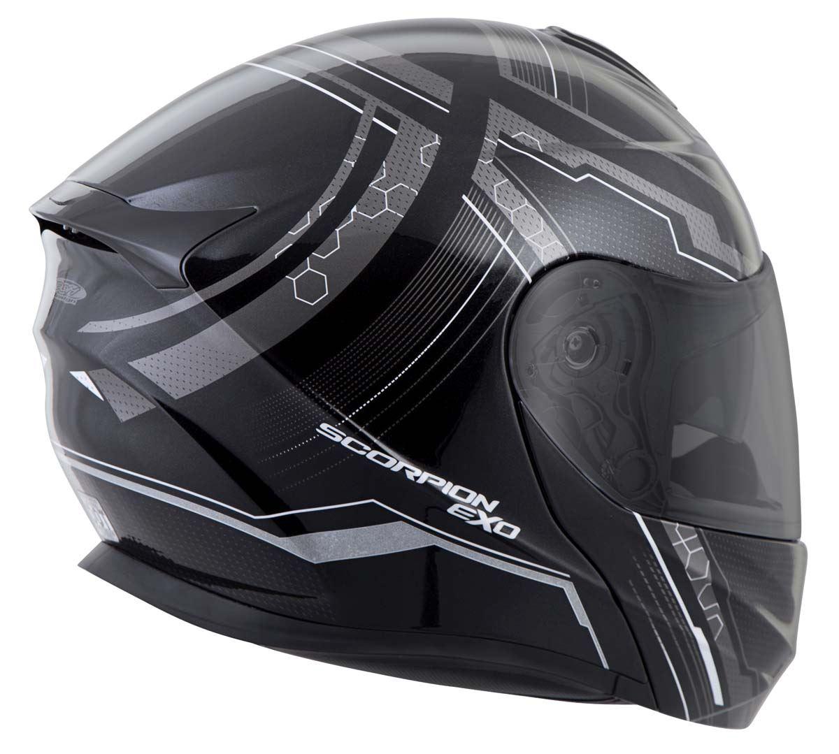 Scorpion-EXO-GT920-Helmet-Sport-Touring-Modular-Flip-Up-DOT-Approved-XS-3XL miniature 19