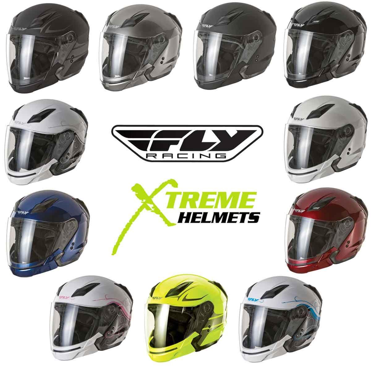 White//Silver FLY Tourist Cirrus Modular Motorcycle Helmet XL X-Large