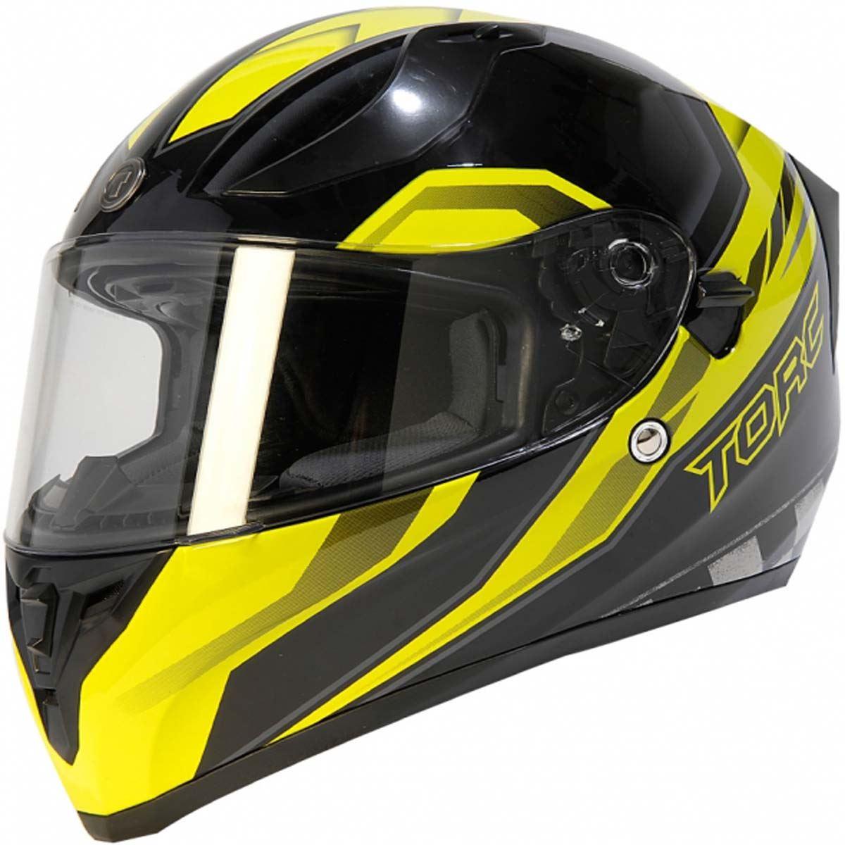 miniature 18 - Torc T15 T15B Helmet Bluetooth Blinc or without - Inner Sun Shield DOT XS-2XL