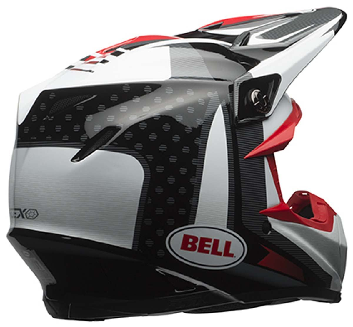 bell moto 9 helmet carbon flex off road mx dirt bike snell m2015 dot. Black Bedroom Furniture Sets. Home Design Ideas