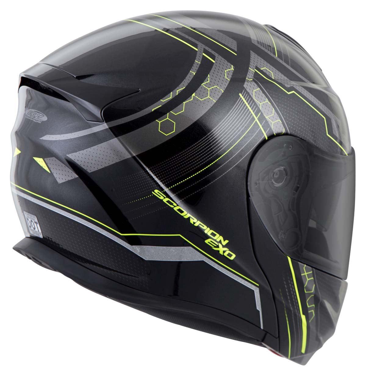 Scorpion-EXO-GT920-Helmet-Sport-Touring-Modular-Flip-Up-DOT-Approved-XS-3XL miniature 32