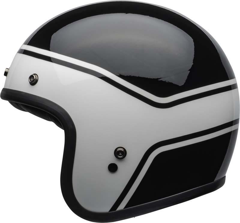 Bell-Custom-500-Helmet-3-4-Open-Face-Vintage-Retro-Motorcycle-5-Snap-XS-2XL miniature 38