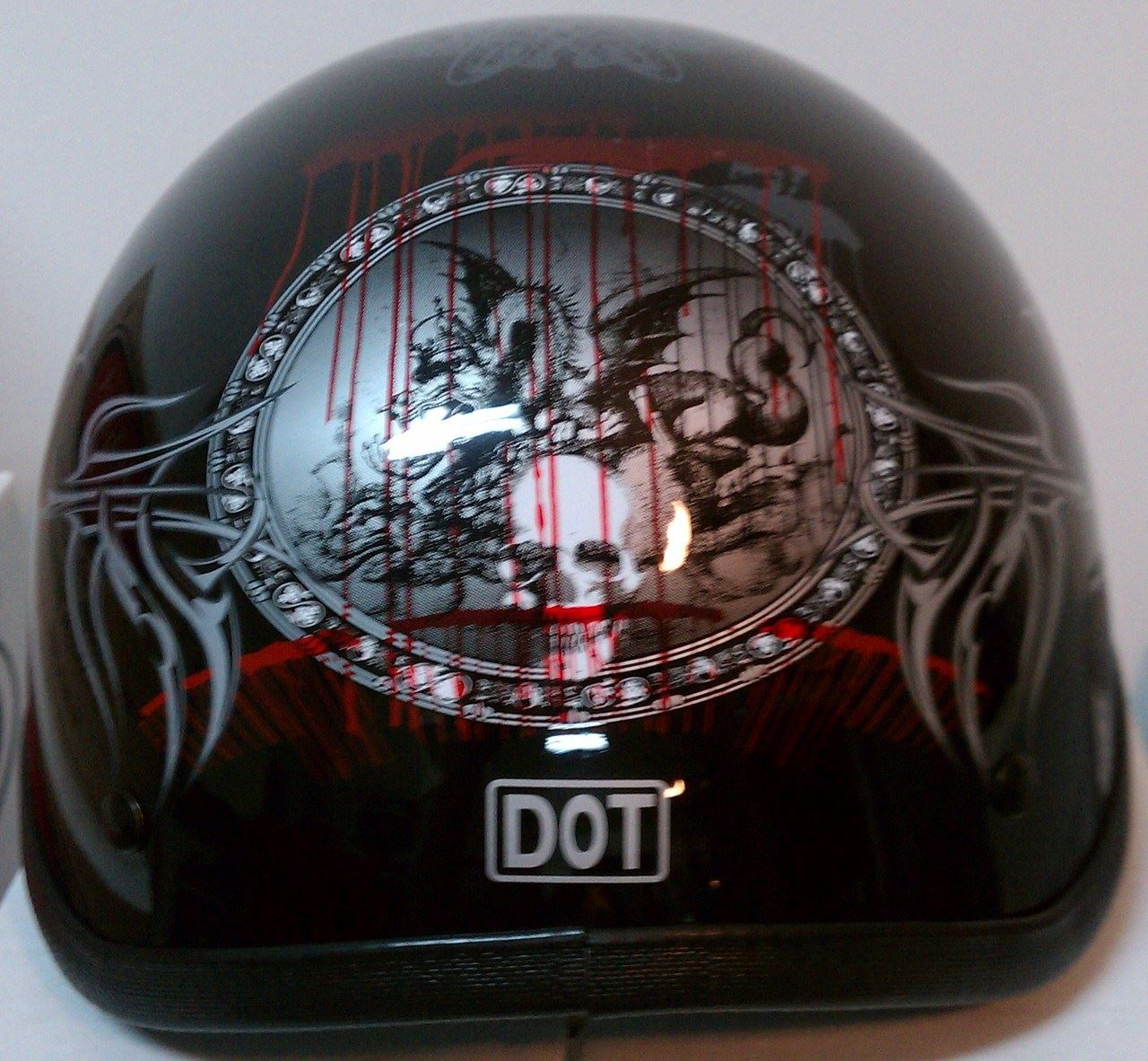 miniature 21 - HCI 100 Half Helmet Motorcycle Shorty with Visor DOT Approved XS S M L XL 2XL