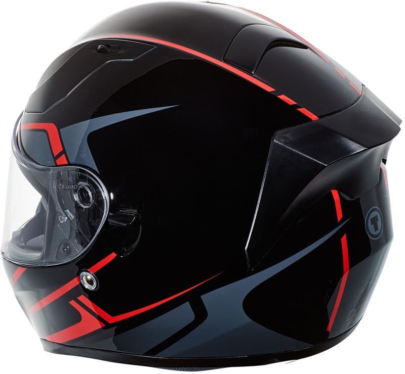 miniature 40 - Torc T15 T15B Helmet Bluetooth Blinc or without - Inner Sun Shield DOT XS-2XL