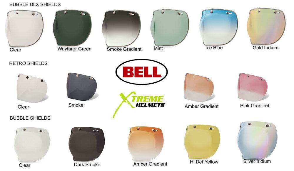 Bell Custom 500 3 Snap Shield Visor Universal Bubble DLX Retro Flip Flat 510 520