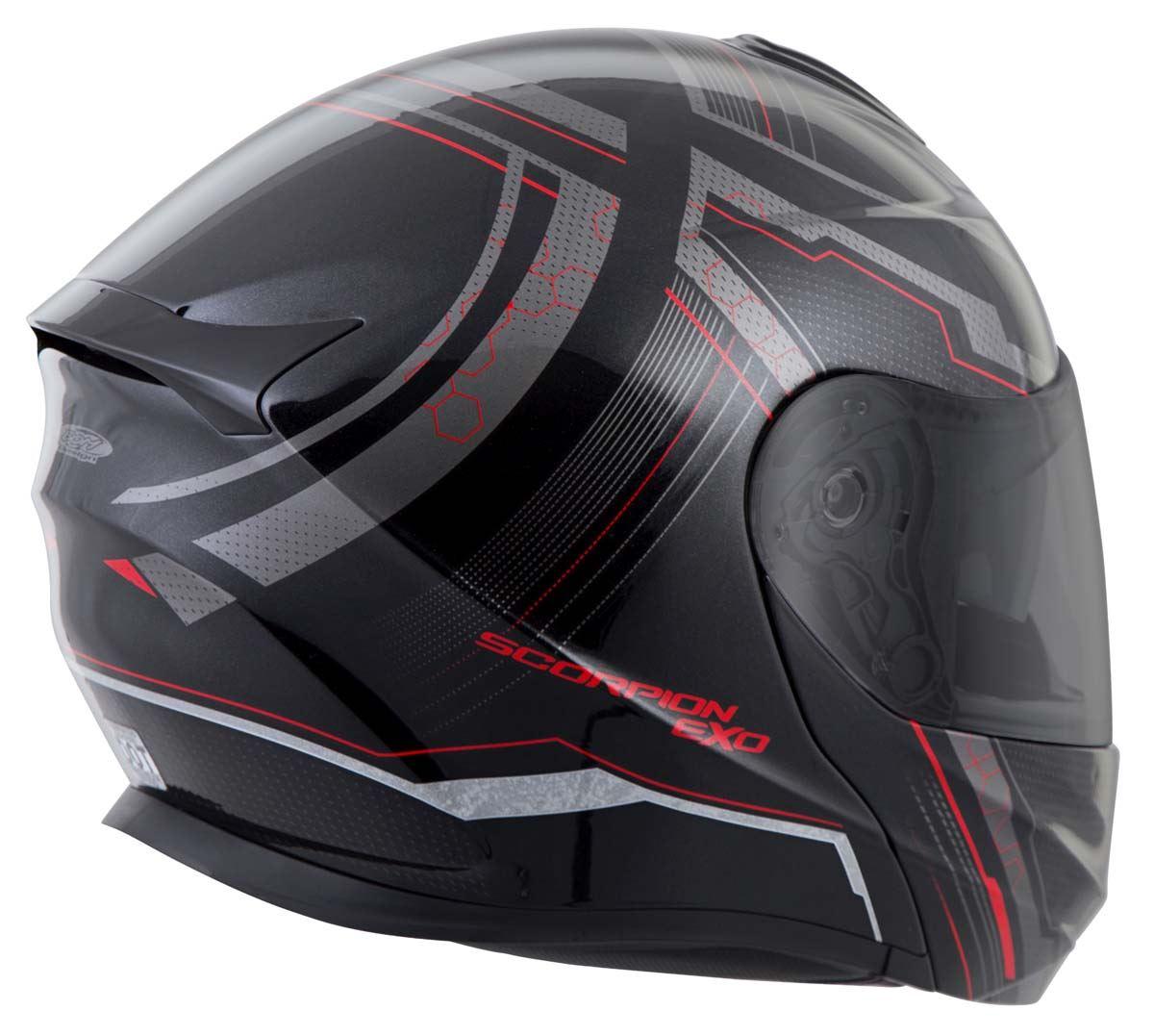 Scorpion-EXO-GT920-Helmet-Sport-Touring-Modular-Flip-Up-DOT-Approved-XS-3XL miniature 27
