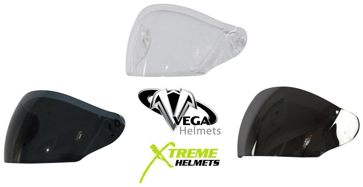 75f0e66f Vega VTS1 NT-200 Helmet Shield Clear Smoke or Silver Mirror on Smoke ...