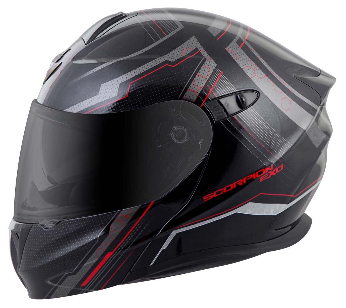 Scorpion-EXO-GT920-Helmet-Sport-Touring-Modular-Flip-Up-DOT-Approved-XS-3XL miniature 23