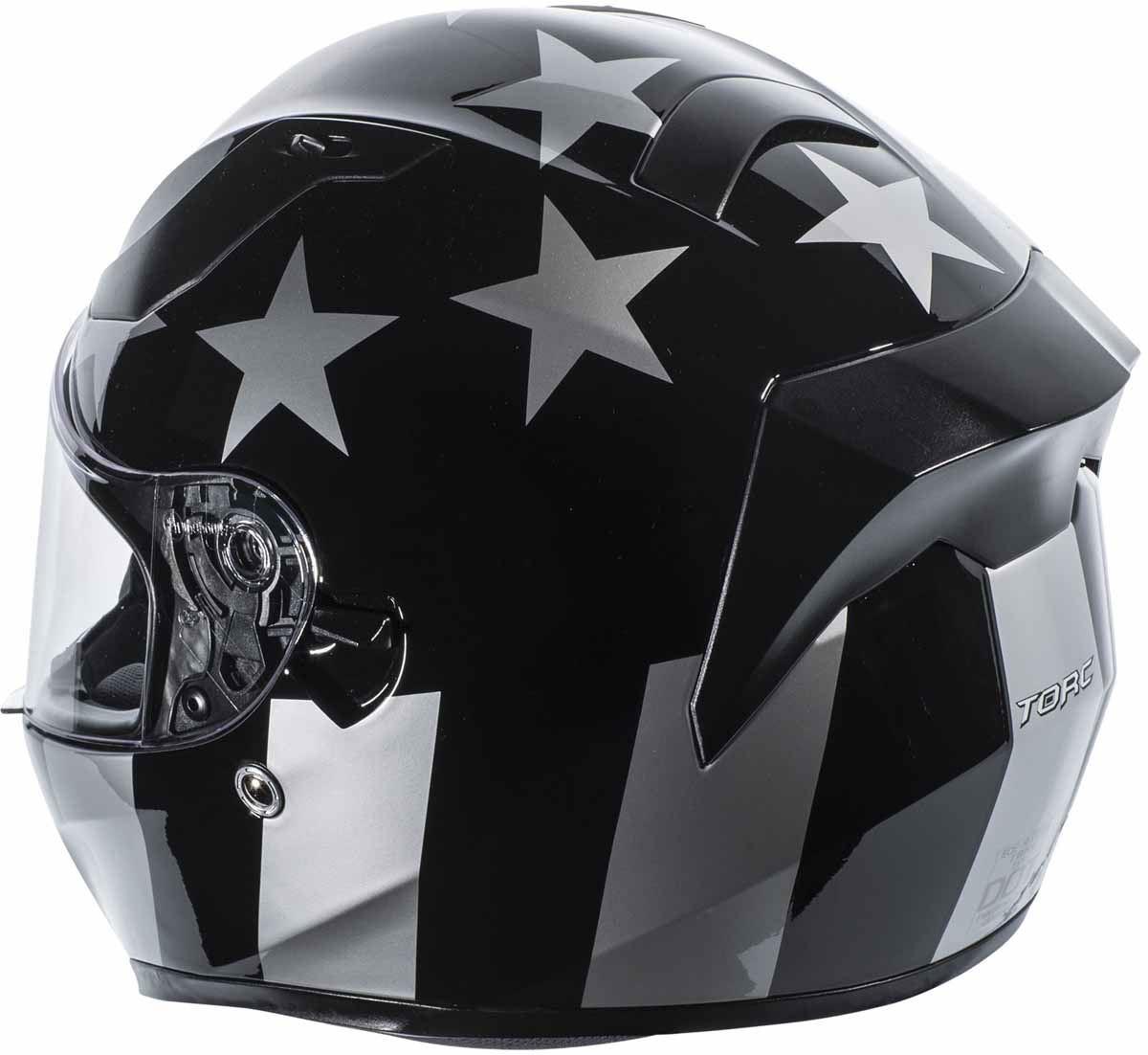 miniature 11 - Torc T15 T15B Helmet Bluetooth Blinc or without - Inner Sun Shield DOT XS-2XL