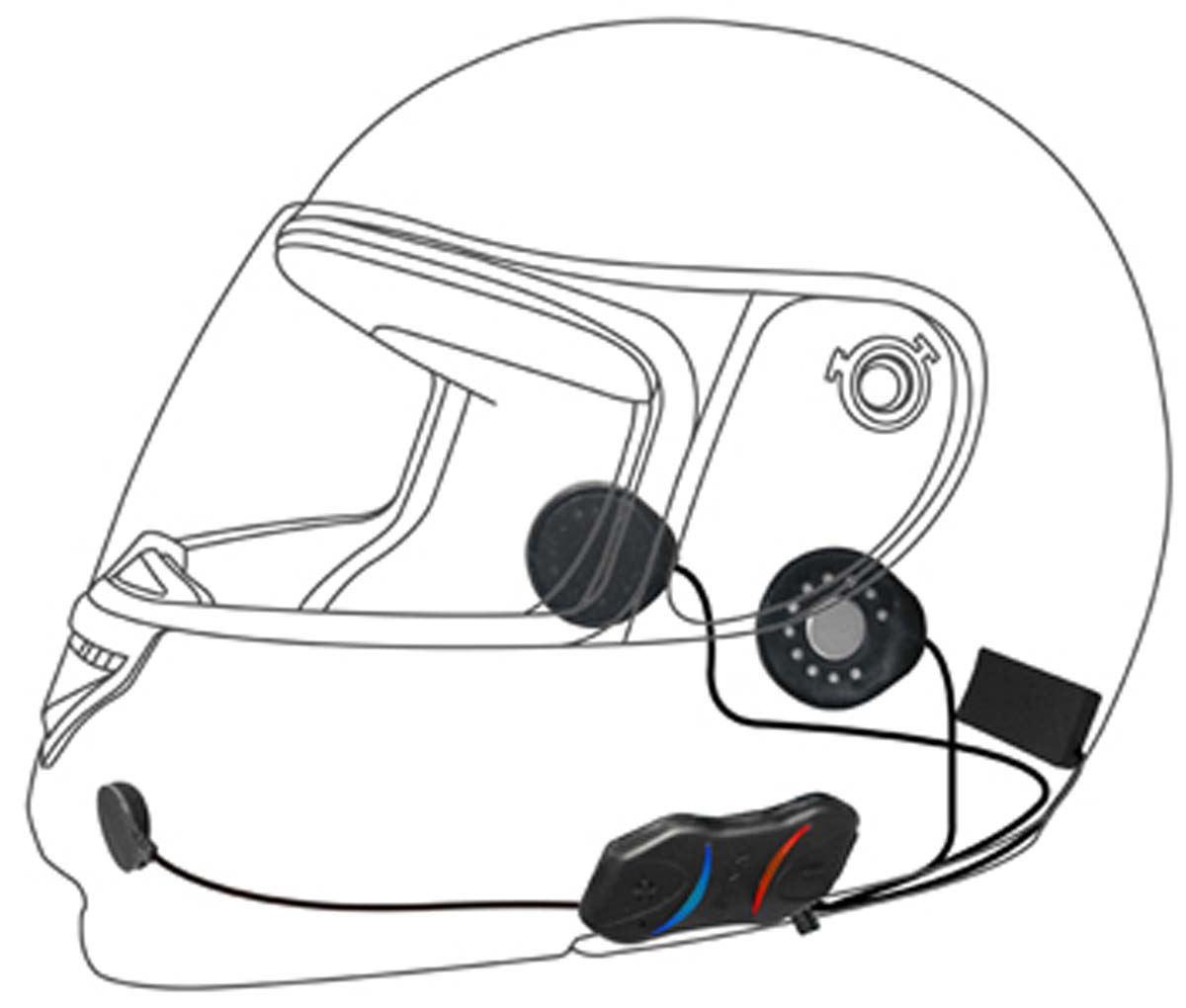 sena smh10r low profile motorcycle bluetooth headset and intercom. Black Bedroom Furniture Sets. Home Design Ideas