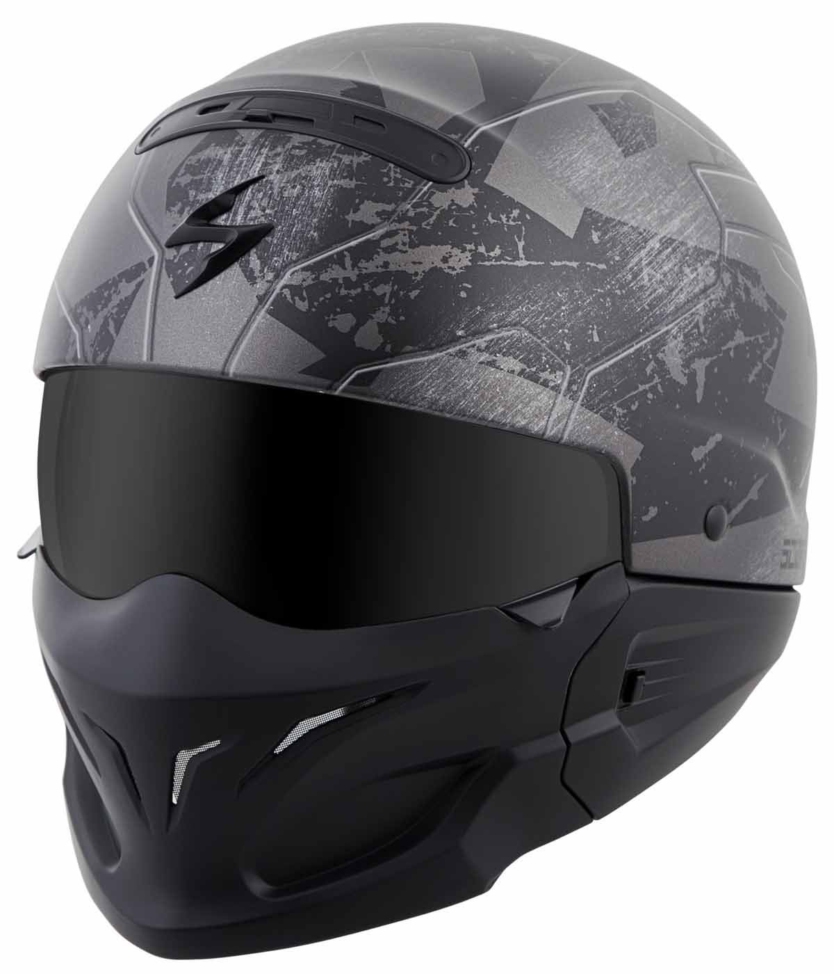 Scorpion Covert Convertible 3-in-1 Half/Full Face Helmet DOT Approved XS-3XL