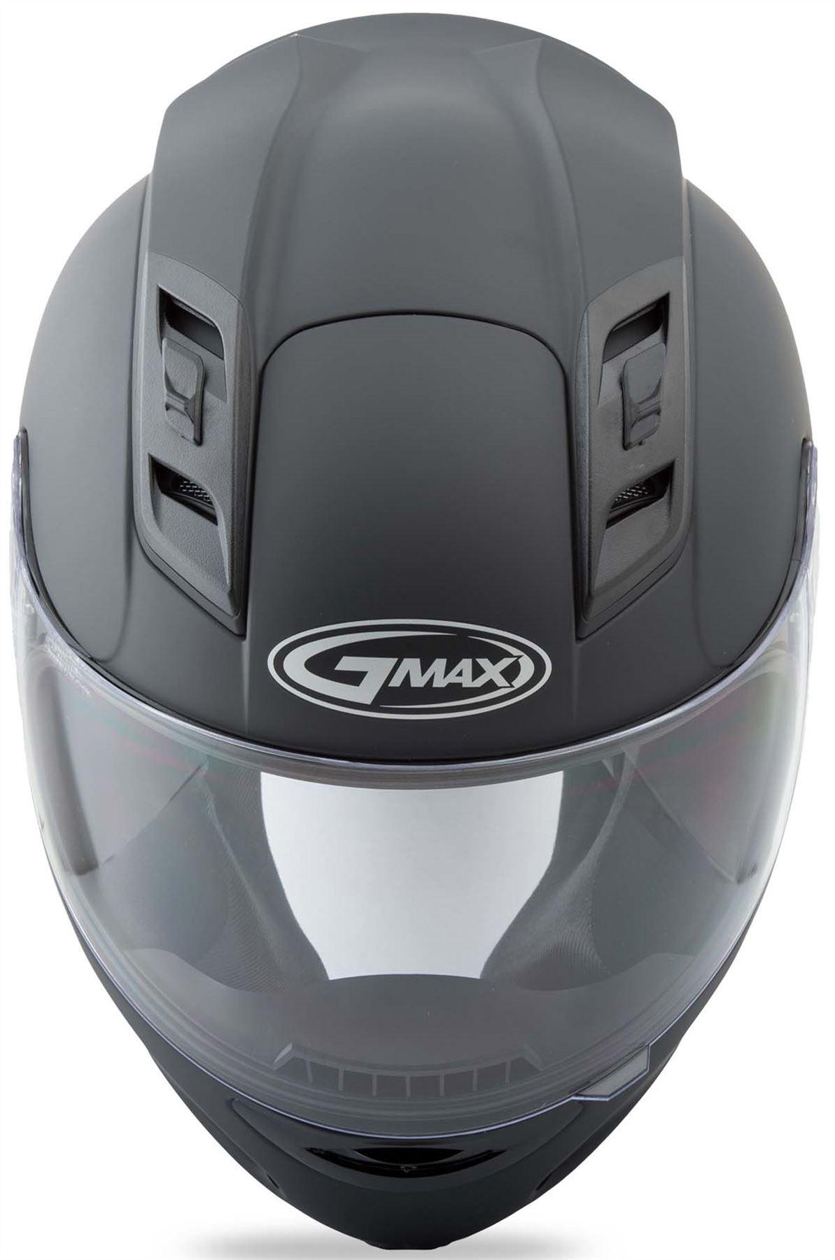 GMAX GM69 FULL FACE MAYHEM HELMET BLACK//SILVER//HI-VIS GREEN X