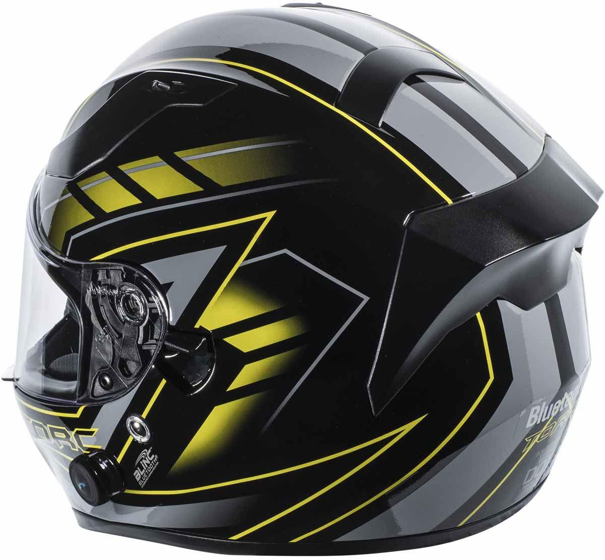 miniature 31 - Torc T15 T15B Helmet Bluetooth Blinc or without - Inner Sun Shield DOT XS-2XL