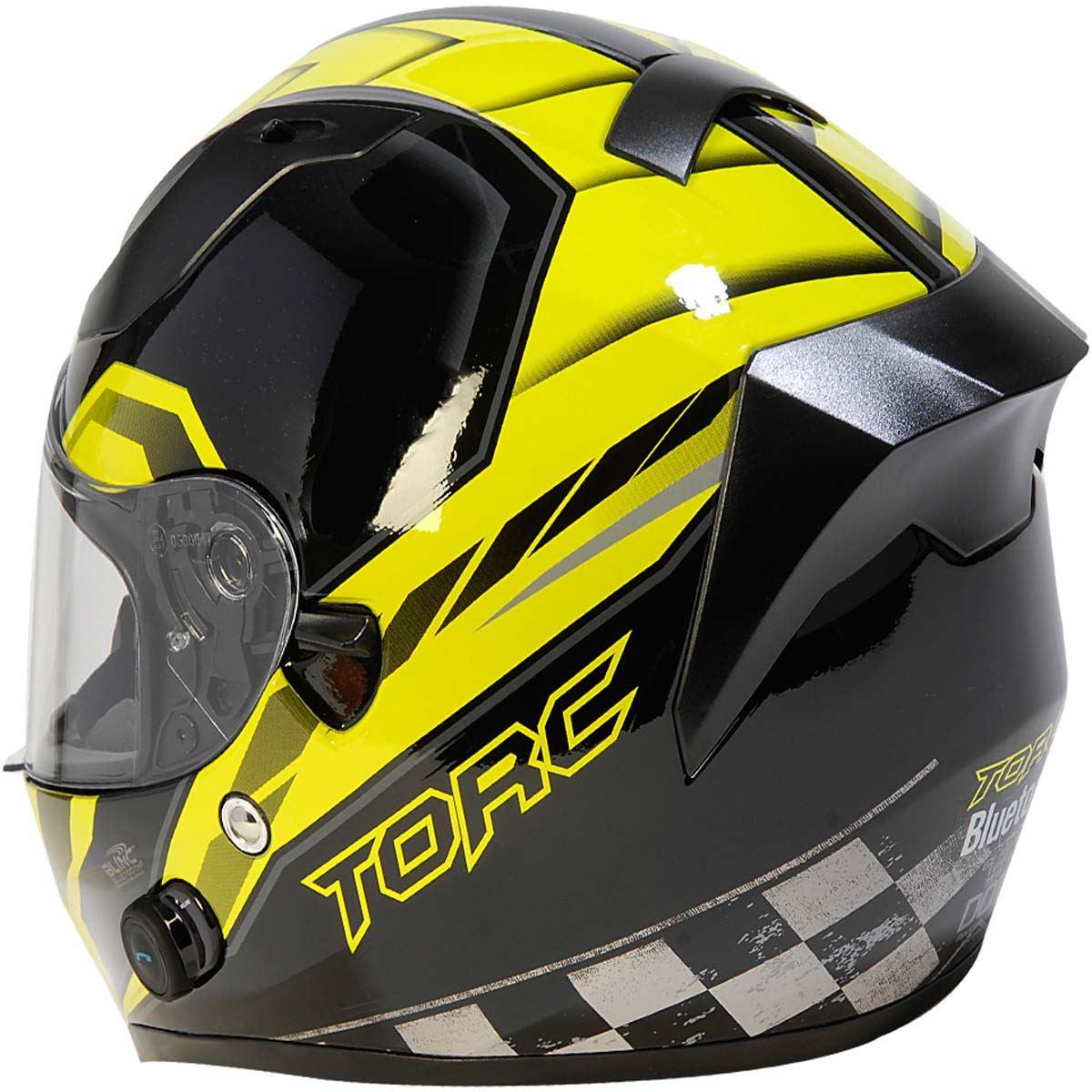 miniature 21 - Torc T15 T15B Helmet Bluetooth Blinc or without - Inner Sun Shield DOT XS-2XL